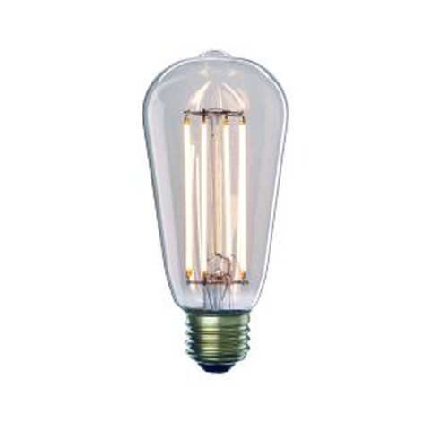 Bulbrite 7W ST18 E26 LED Clear Filament Bulb