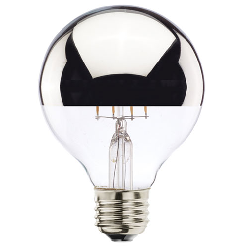 5W G25 E26 Half Chrome Filaments LED Bulb