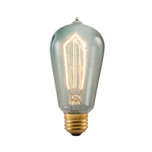 40W ST18 E26 Incandescent Hairpin Filament Nostalgic Smoke Bulbs, 6 Pack