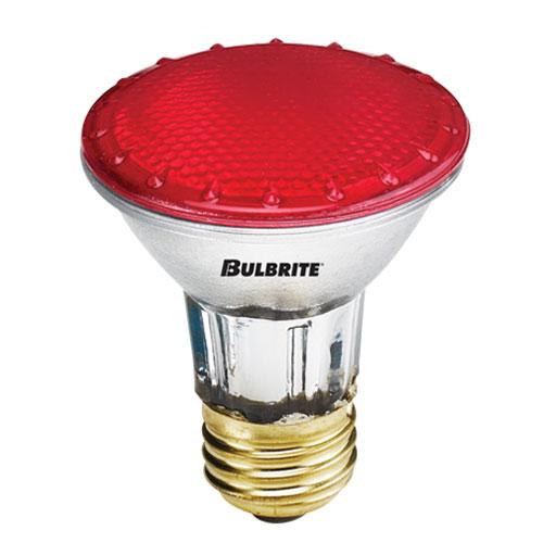 50W PAR20 E26 Halogen Red Bulb