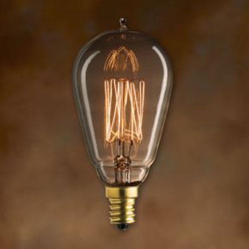 25W ST15 E12 Nostalgic Edison Thread Filament Warm White Bulb