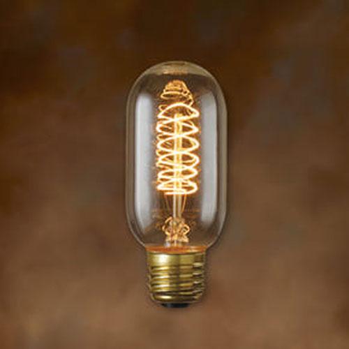40W T14 E26 Nostalgic Edison Torch Spiral Filament Bulb