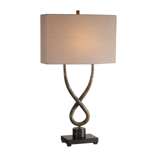 Talema Distressed Aged Silver Leaf One-Light Table Lamp