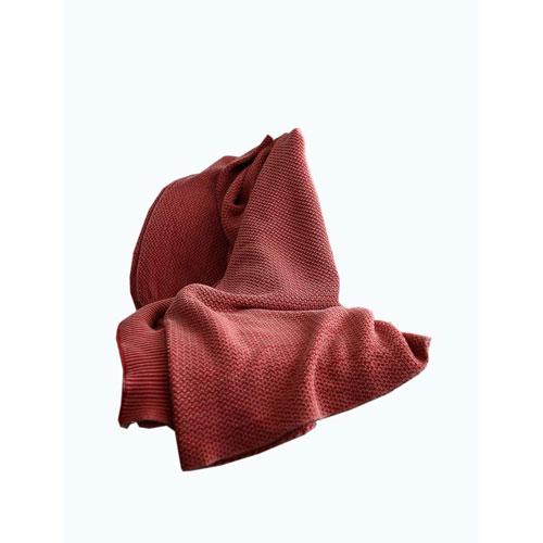 Titan Red Denim Wash Throw