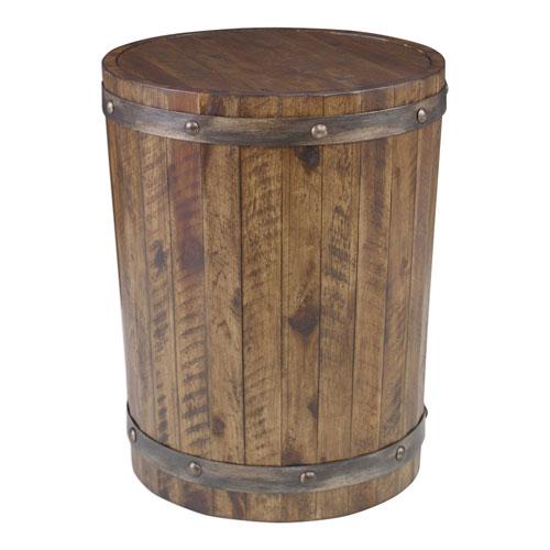 Ceylon Wine Barrel Accent Table