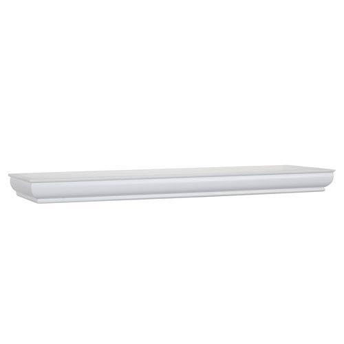 White Floating Shelf, 8 x 24 x 1.75-Inches