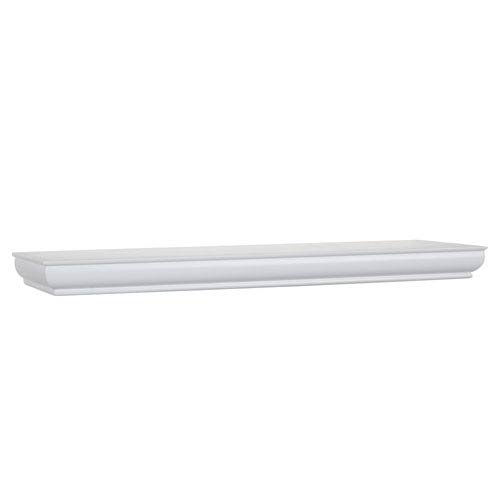 White Floating Shelf, 8 x 36 x 1.75-Inches
