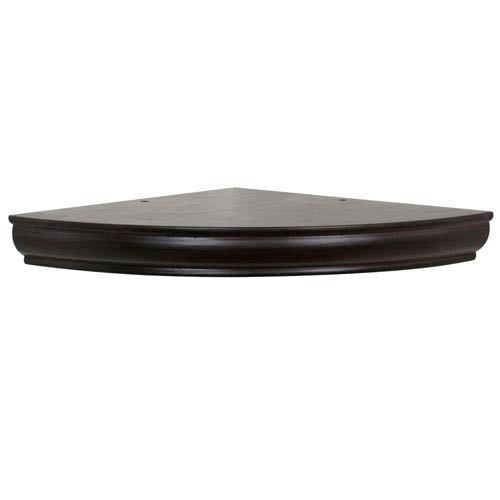 Espresso Floating Corner Shelf, 12-Inch Radius