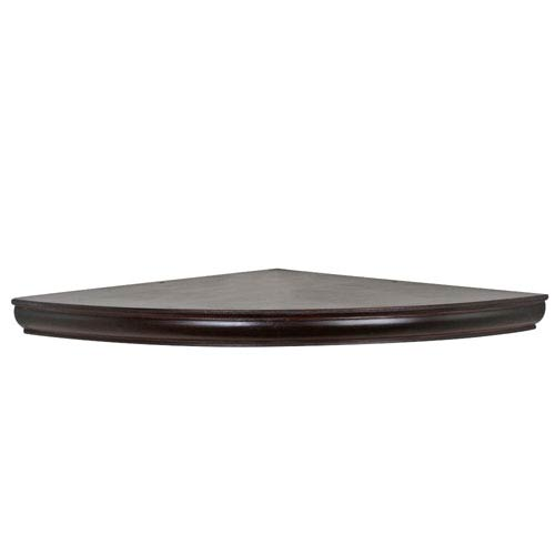 Woodland Products Espresso Floating Corner Shelf 18 Inch Radius
