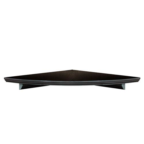 Woodland Products Espresso Corner Shelf, 10-Inch Radius