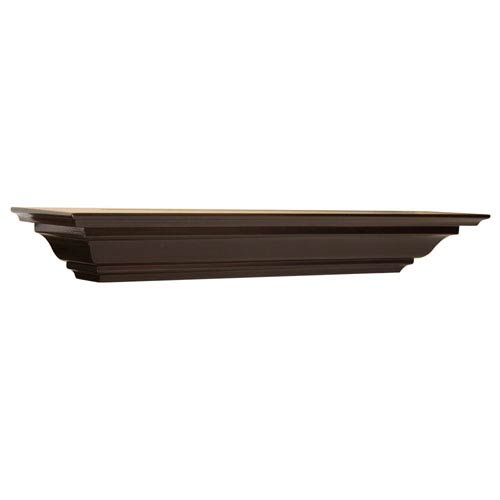 Espresso Crown Molding Shelf, 5 x 24 x 4-Inches