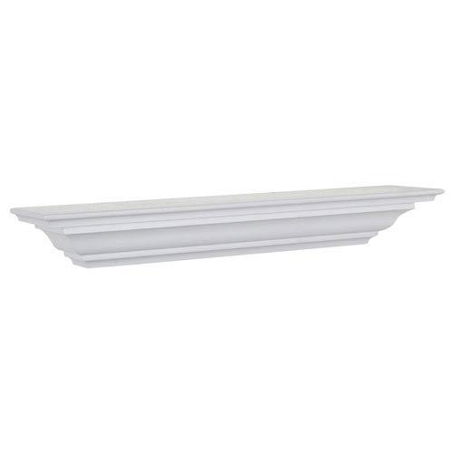 White Crown Molding Shelf, 5 x 36 x 4-Inches