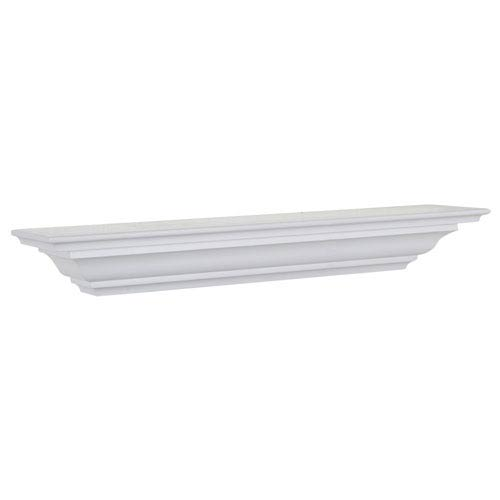 White Crown Molding Shelf, 5 x 48 x 4-Inches