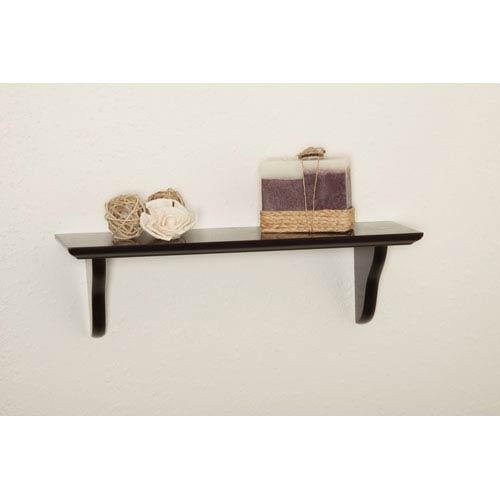 Espresso Shelf Kit, 5 x 16 x 5/8-Inches