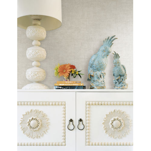 Tropics White Gunny Sack Texture Non Pasted Wallpaper - SAMPLE SWATCH ONLY