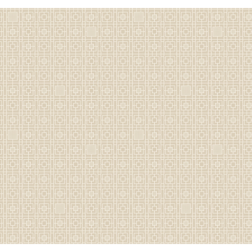 Antonina Vella Deco Beige Deco Screen Wallpaper-SAMPLE SWATCH ONLY