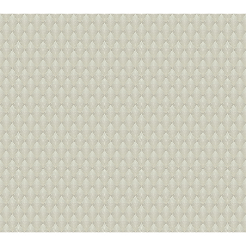 Antonina Vella Deco Beige Club Diamond Wallpaper-SAMPLE SWATCH ONLY