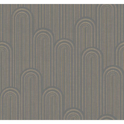 Antonina Vella Deco Light Gray Speakeasy Wallpaper