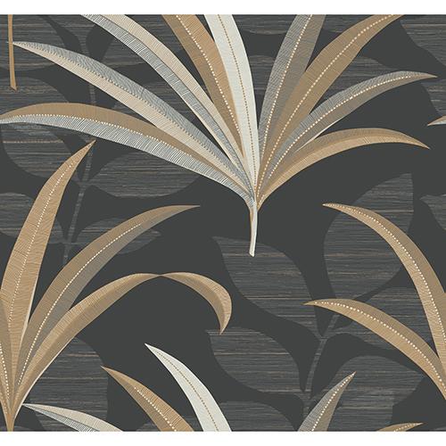 Antonina Vella Deco Black El Morocco Palm Wallpaper