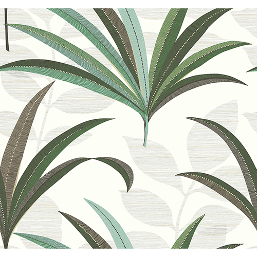 Antonina Vella Deco Off White El Morocco Palm Wallpaper