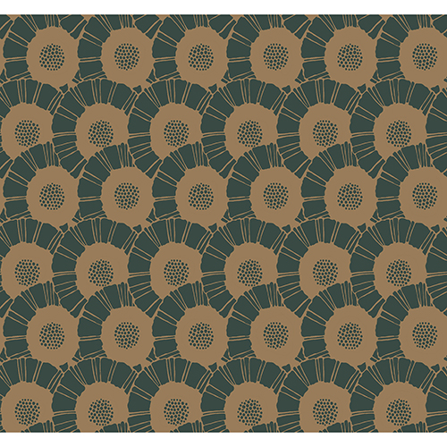 Antonina Vella Deco Metallic Coco Bloom Wallpaper