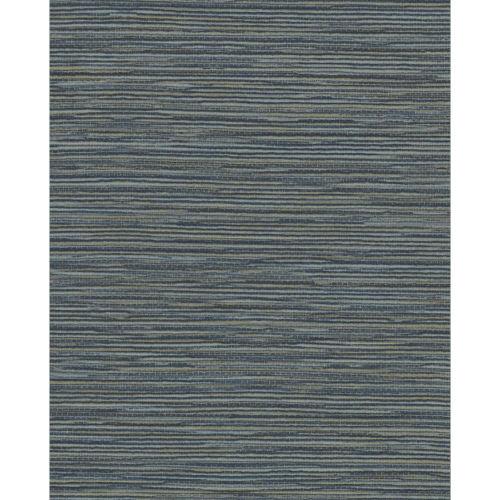 Color Digest Dark Blue Ramie Weave Wallpaper