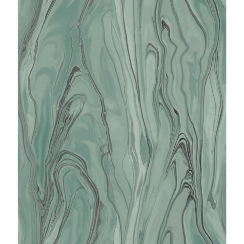 Impressionist Green Liquid Marble Wallpaper - SAMPLE SWATCH ONLY