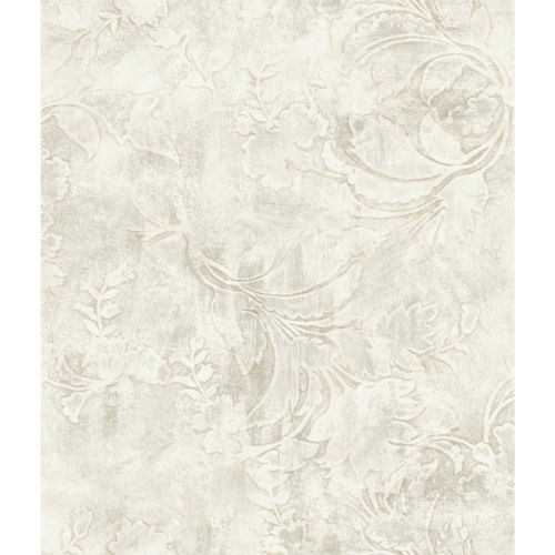 Impressionist Cream Entablature Scroll Wallpaper - SAMPLE SWATCH ONLY