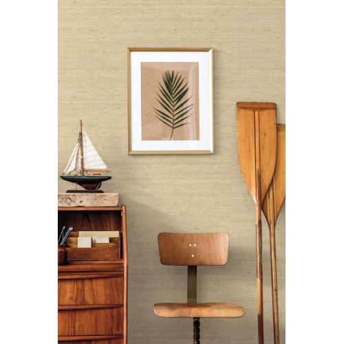 Waters Edge Cream Arrowroot Non Pasted Wallpaper