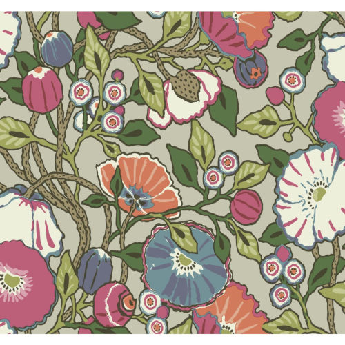 Conservatory Brights Vincent Poppies Wallpaper
