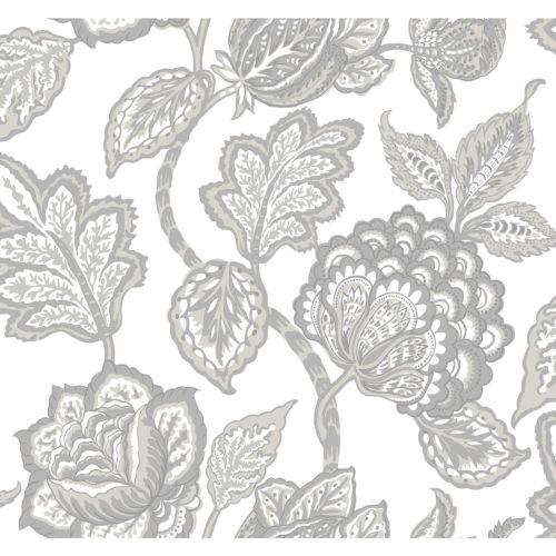 Conservatory Gray and White Midsummer Jacobean Wallpaper
