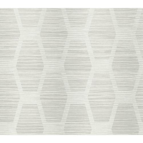 Conservatory Light Gray Congas Stripe Wallpaper