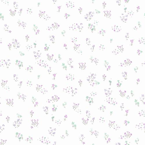 A Perfect World Purple Watercolor Floral Bouquet Wallpaper