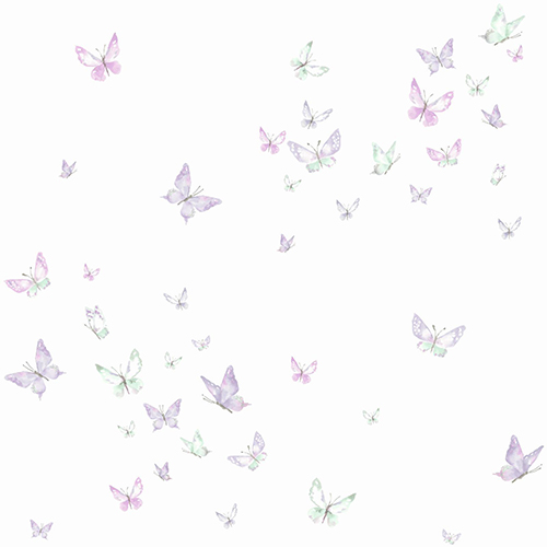 A Perfect World Purple Watercolor Butterflies Wallpaper