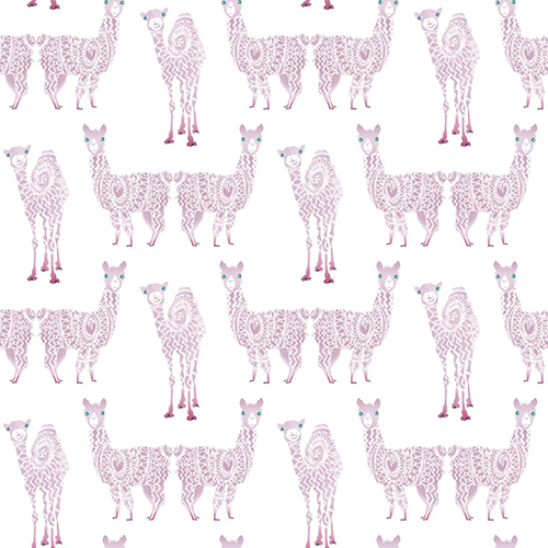 A Perfect World Purple Alpaca Pack Wallpaper - SAMPLE SWATCH ONLY