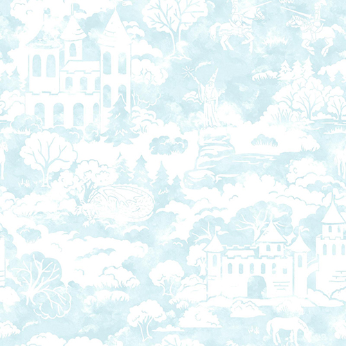 A Perfect World Blue Quiet Kingdom Wallpaper - SAMPLE SWATCH ONLY