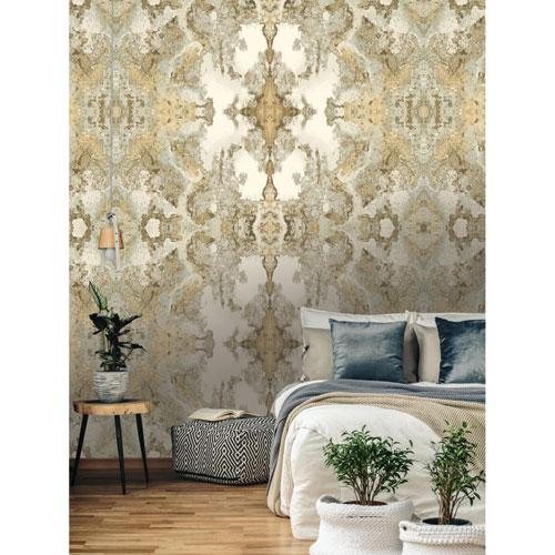 Candice Olson Botanical Dreams Light Gray Inner Beauty Wallpaper
