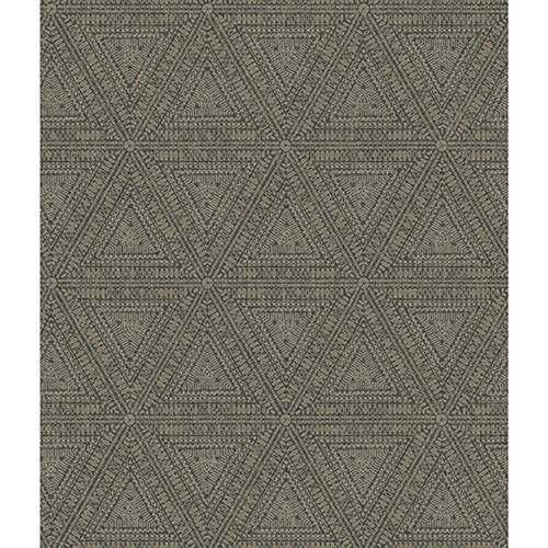 Norlander Brown Norse Tribal Wallpaper