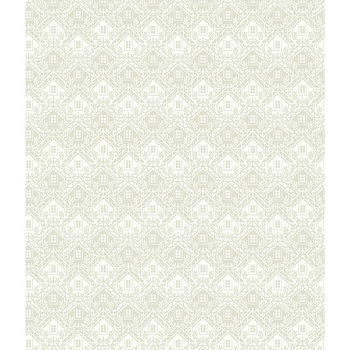 Norlander White and Off White Chalet Wallpaper - SAMPLE SWATCH ONLY