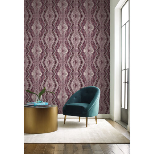 Antonina Vella Elegant Earth Berry Kaleidoscope Bohemian Wallpaper