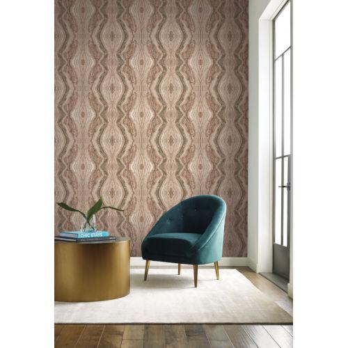 Antonina Vella Elegant Earth Pale Pink Kaleidoscope Bohemian Wallpaper
