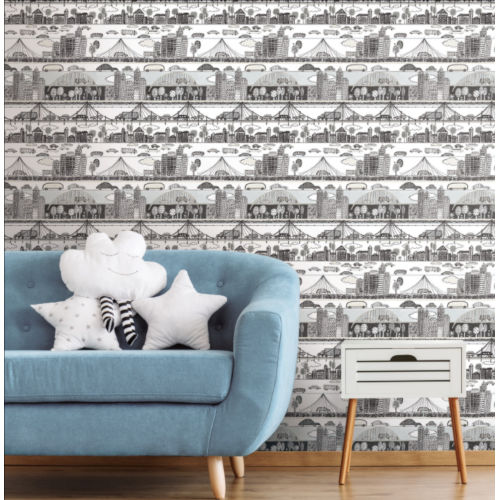 Urban Neutral Peel and Stick Wallpaper