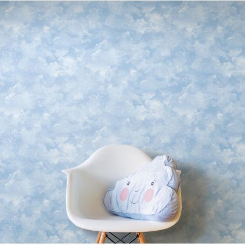 Atrium Clouds Blue Peel and Stick Wallpaper