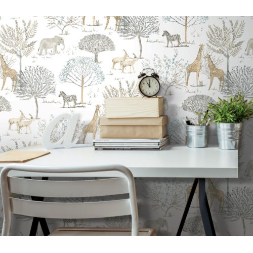On The Savanna Neutral Peel and Stick Wallpaper