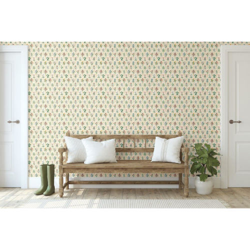 Rifle Paper Co. Cream Hawthorne Wallpaper