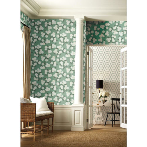 Rifle Paper Co. Jade Hydrangea Wallpaper