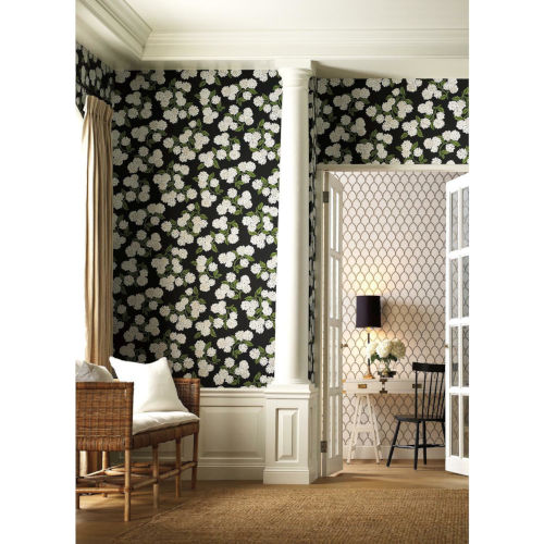 Rifle Paper Co. Black and White Hydrangea Wallpaper
