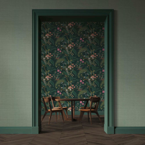 Rifle Paper Co. Sage Palette Grasscloth Wallpaper