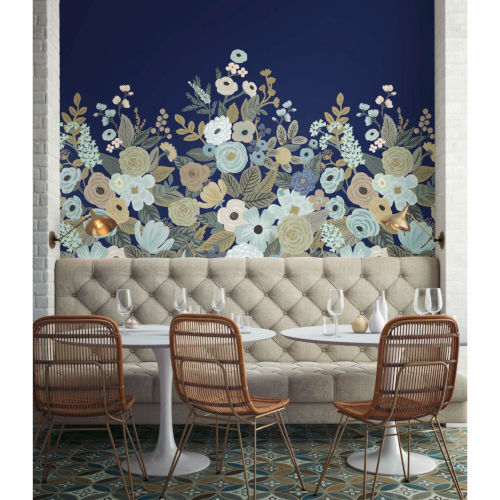 Rifle Paper Co. Navy Garden Party Wall Mural