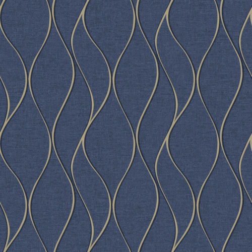 Roommates Decor Blue Navy Wave Ogee Peel And Stick Wallpaper Rmk11293wp Bellacor
